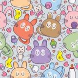 Baby Cat Milk Seamless_eps stock illustration