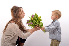 Baby celebrates Mother's Day Stock Photography