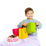 Baby celebrating birthday Stock Images