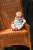 Baby on Chair Royalty Free Stock Photos