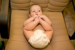 Baby on the chair Royalty Free Stock Photo