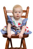 Baby on chair. Baby sit on the chair Royalty Free Stock Images
