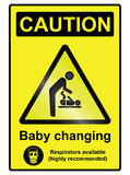 Baby Changing Hazard Sign Stock Photography