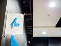 Baby Changing Room Sign. In The Shopping Mall royalty free stock image