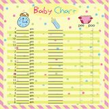Baby chart for moms - colorful vector illustration Royalty Free Stock Photo