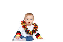 Baby cheers for the german soccer team stock images