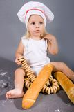 Baby chef Royalty Free Stock Images