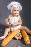 Baby chef Stock Image