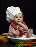 Baby Chef Eating Stock Photography