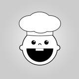 Baby chef vector icon Royalty Free Stock Photos