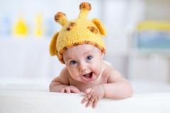 Baby child in costume of giraffe Royalty Free Stock Image