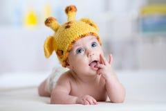 Baby child in costume of giraffe Stock Photography