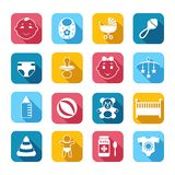 Baby Child Icons Set Royalty Free Stock Image