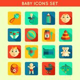 Baby Child Icons Set Royalty Free Stock Photos