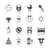 Baby Child Icons Set Stock Images