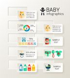 Baby child infographic. Design layout with newborn content vector illustration Stock Images