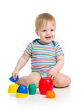Baby child playing toys Stock Photography