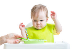 Baby child refusing to eat Royalty Free Stock Photo