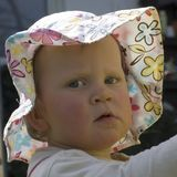 Baby child with sun hat Stock Photos