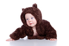 Baby child in teddy Royalty Free Stock Photography