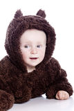 Baby child in teddy-bear Royalty Free Stock Photo