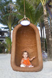 Baby child on tropical beach Stock Photography