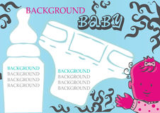 Baby, child vector background. Icons set girl, food, care icons vector illustration