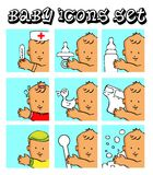 Baby, child vector background Stock Images