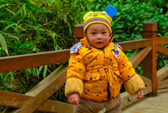 Baby /children ï ¼ ˆAsian China yellowï ¼ ‰ Royalty-vrije Stock Foto's