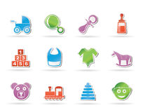 Baby and children icons Royalty Free Stock Photos