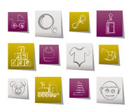 Baby and children icons. Vector icon set stock illustration