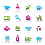 Baby, children and toys icons Stock Photo