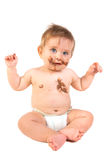Baby with chocolate Royalty Free Stock Photos
