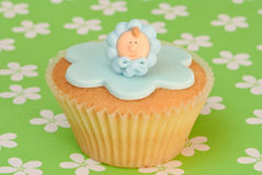 Baby Christening Cupcake Stock Photos