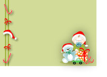 Baby in Christmas Stock Images