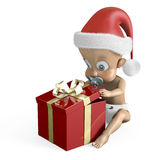 Baby at Christmas Royalty Free Stock Image