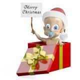 Baby at Christmas Stock Photo