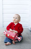 Baby at Christmas Stock Photography