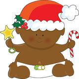 Baby Christmas Black Stock Photo