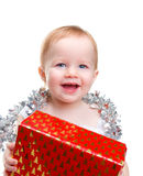 Baby with Christmas decoration Royalty Free Stock Image