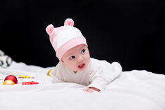 Baby with christmas gifts Royalty Free Stock Photography