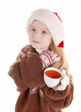 Baby christmas girl Royalty Free Stock Images