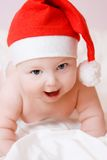 Baby in christmas hat Stock Photography