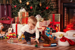 Baby on Christmas Royalty Free Stock Photos