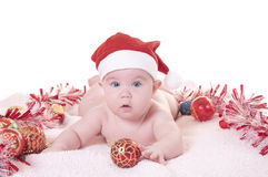 Baby christmas Royalty Free Stock Photo