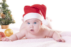 Baby christmas Stock Photography