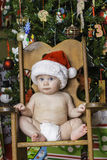 Baby Christmas Portrait Royalty Free Stock Photo