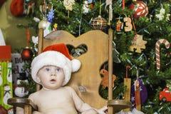 Baby Christmas Portrait Royalty Free Stock Photos