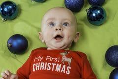 Baby Christmas Portrait Royalty Free Stock Photo