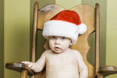 Baby Christmas Portrait Royalty Free Stock Images